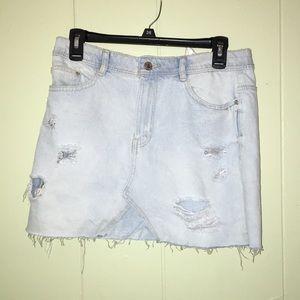 ZARA white wash mini skirt